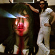 "Andrew W.K., 2013<br>foam, wood, paint<br>6'x3'x14""<br><br>Andrew W.K."