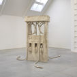 Petrified Petrol Pump, 2010<br>limestone<br>100x72x128in<br>photo courtesy of Lisson Gallery<br><br>Allora & Calzadilla