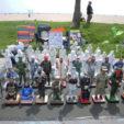Los Santos de Terrorismo, 2012<br> Painted plaster<br> Dimensions variable<br><br>  Cara Faye Earl