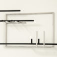 Christopher Grimes, 2013<br>steel, paint<br>various dimensions<br><br>Waltercio Caldas